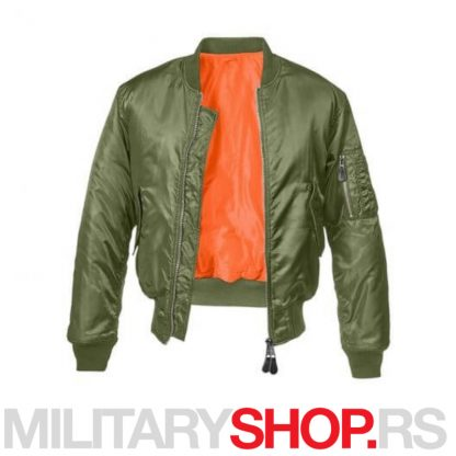 Brandit pilot jakna Zelena fajerka MA1