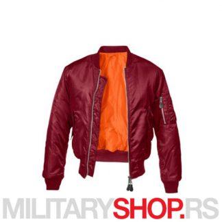 Pilotska bordo jakna MA1 Brandit Fajerka