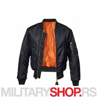 Pilotska crna jakna MA1 Fajerka Brandit