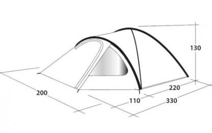Kamperski šator Outwell Cloud 3