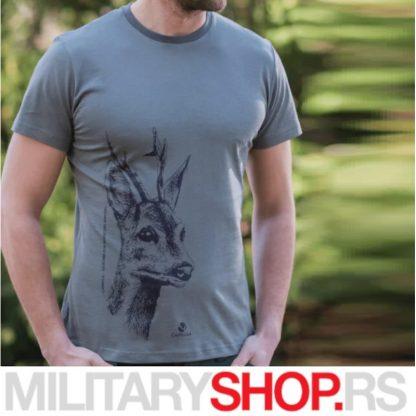 Maslinastozelena majica sa motivom srndaća Caprella