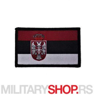 Našivak Zastava Srbije Tamni Tonovi Digitalni Vez