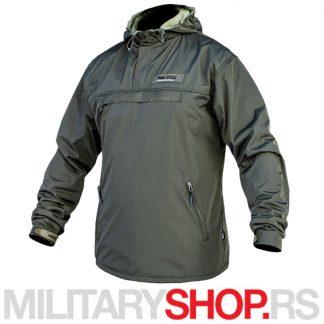 Anorak jakna sa kengur džepom zelena Travel Defence